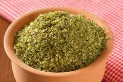 Dried Marjoram leaves Stock Image