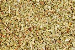 Dried marjoram spice  closeup Stock Photos