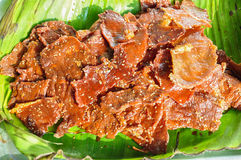 Dried Meat. With white saseme Stock Photography