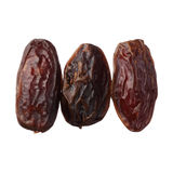 Dried medjool dates isolated on white background Stock Photos