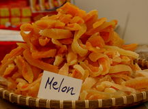 Dried melon Royalty Free Stock Photos