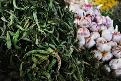 Dried mint, herbs at the market royalty free stock images