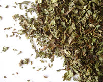 Dried mint leaves Stock Photos
