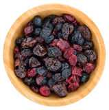 Dried mix berries fruits. Royalty Free Stock Photography