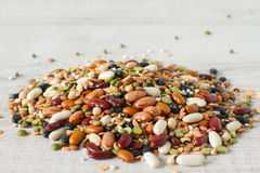 Dried mix of legumes and cereals Stock Photos