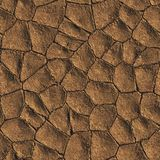 Dried Mud. Seamless Texture Tile Royalty Free Stock Images