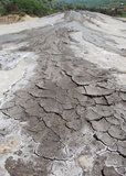 Dried mud Stock Photo