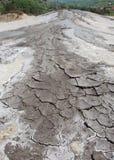 Dried mud. Moon like landscape of muddy volcanoes in Berca, Romania Stock Photo