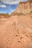 Dried mud, drought and arid ground concept. Royalty Free Stock Photo