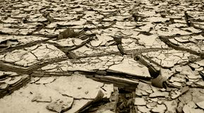 Dried mud following huge floods queensland Royalty Free Stock Photography