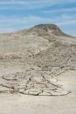 Dried mud lava Stock Photos
