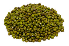 Dried mung beans in a pile Stock Photos