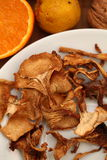 Dried mushroom chanterelle Royalty Free Stock Photos