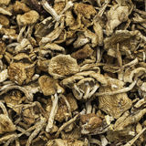 Dried Mushrooms. For sale at a market Stock Image