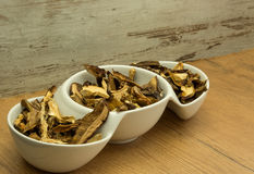 Dried mushrooms Stock Photos