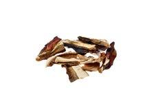 Dried mushrooms boletus edulis Royalty Free Stock Images