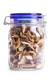 Dried mushrooms in jar Royalty Free Stock Images