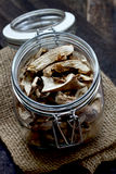 Dried mushrooms Royalty Free Stock Photo