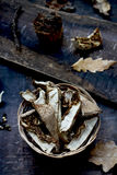Dried mushrooms Stock Image