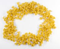 Dried noodles in circle Royalty Free Stock Photography