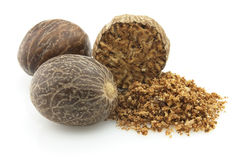 Dried nutmeg Royalty Free Stock Photography