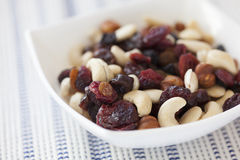 Dried nuts and berries mix Stock Images