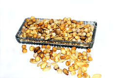 Dried Nuts in a Plate Royalty Free Stock Photography
