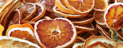 Dried orange. Dried slices of orange in shop Stock Photography