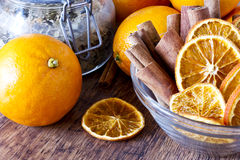 Free Dried Orange And Cinnamon Sticks - Christmas Decoration Royalty Free Stock Photos - 28668018
