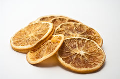 Dried orange chips stock images