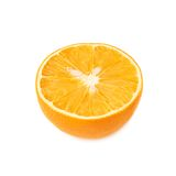 Dried orange cut in half isolated over the white Royalty Free Stock Photos