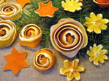 Dried orange fruits flowers royalty free stock images