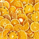 Dried orange and lemon slices background Stock Photography