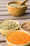 Dried orange lentils Royalty Free Stock Images