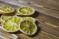 Dried orange slice with grunge background Royalty Free Stock Images