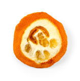 Dried orange slice isolated on white Stock Photography