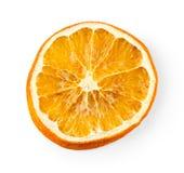 Dried orange slice isolated on white Stock Image