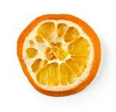Dried orange slice isolated on white Stock Photo