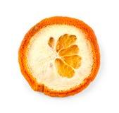 Dried orange slice isolated on white Royalty Free Stock Image