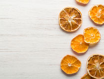 Dried orange slices arranged Royalty Free Stock Images