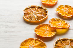 Dried orange slices arranged Royalty Free Stock Photography