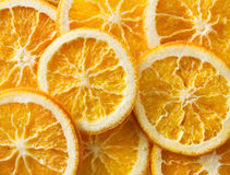 Dried orange slices background Royalty Free Stock Images