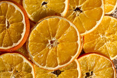 Dried orange slices background. Festive Dried orange slices background Royalty Free Stock Images