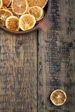 Dried orange slices stock images