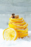 Dried orange slices and cinnamon Stock Photography