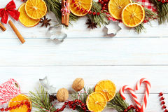 Dried orange slices Royalty Free Stock Images