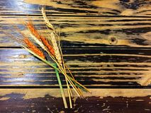 The dried orange and yellow rice. Stock Photo