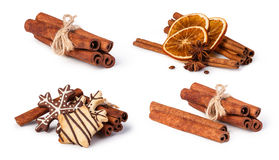 Dried oranges and cinnamon Royalty Free Stock Images