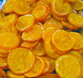 Dried oranges at spanish market. Spain Stock Image