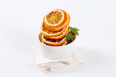 Dried oranges with spices Stock Photography